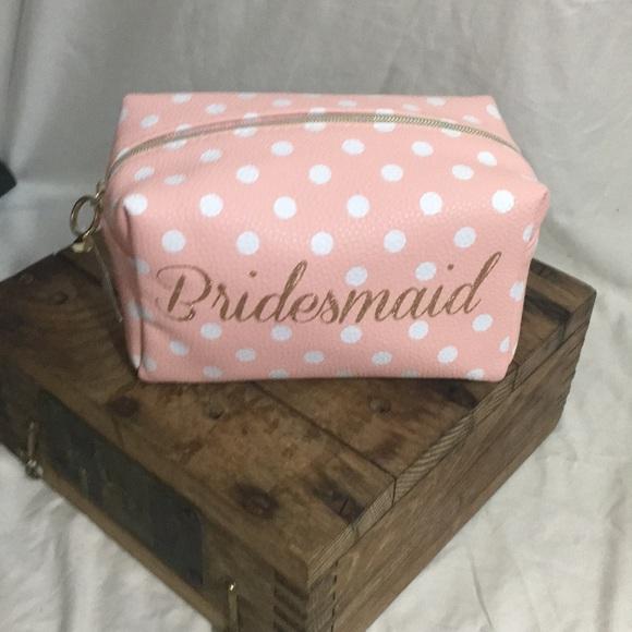 0b98b980c772 (NWT) Polka Dot Bridesmaid Make-up Bag